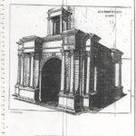 Plan de la porte Caracalla de tébessa