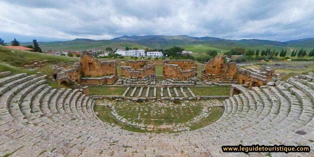 Théâtre de Khemissa vue par la cavea