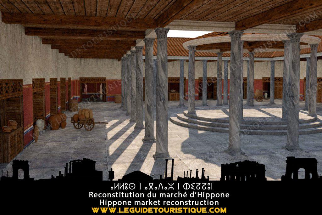 Reconstitution du marché romain d'Hippone