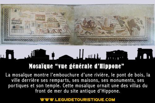 """Mosaïque """"vue générale d'Hippone"""""""
