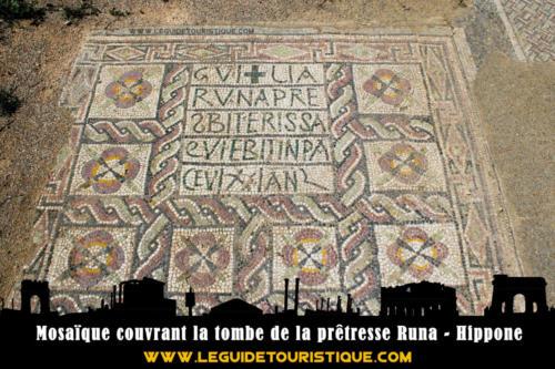 Mosaïque couvrant la tombe de la prêtresse Runa