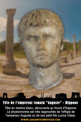 """Tête de l'empereur romain """"Auguste"""""""
