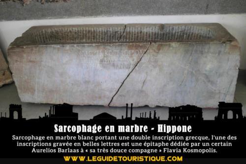 Sarcophage en marbre