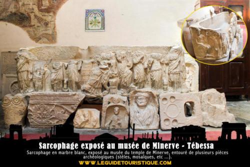 Sarcophage exposé au temple de Minerve - Tébessa