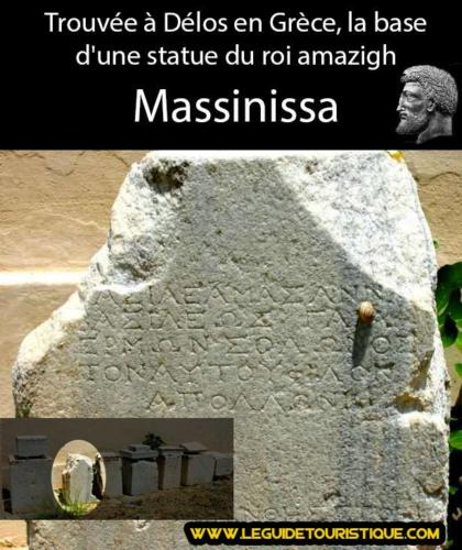 Base de la statue de Massinissa