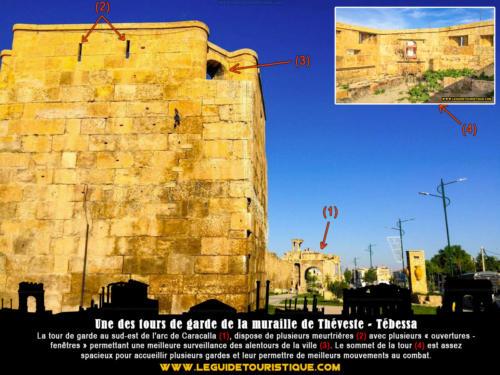Une des tours de garde de la muraille de Théveste - Tébessa