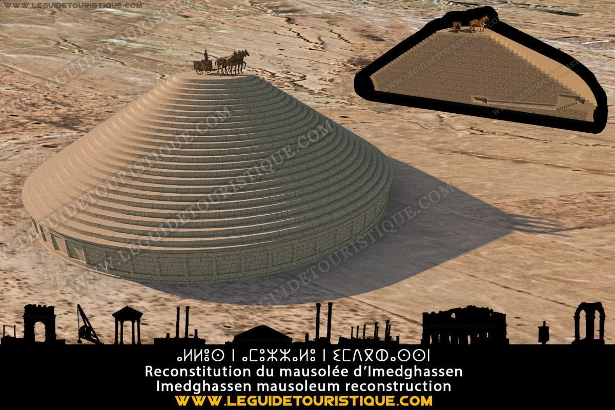 Reconstitution du mausolée d'Imedghassen