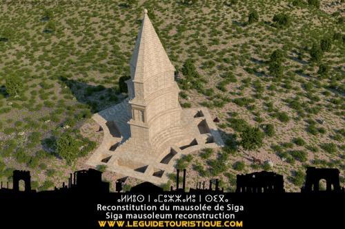 Reconstitution du mausolée de Syphax