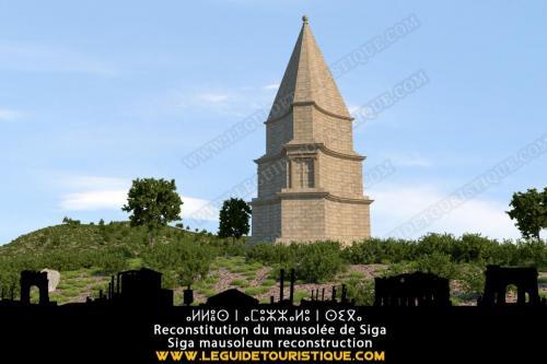 Reconstitution du mausolée Syphax