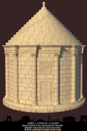 Reconstitution du mausolée Taksebt