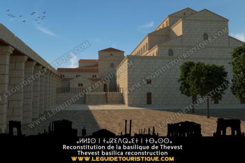 Reconstitution de la basilique (Monastère byzantin) de Tébessa