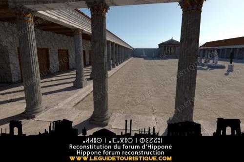 Reconstitution du forum d'Hippone