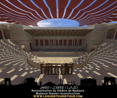 Reconstitution du théâtre de Madaure de l'époque romaine