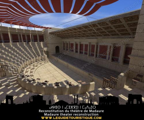 Reconstitution du théâtre de Madaure (époque romaine)