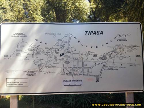Carte du site archéologique Tipaza